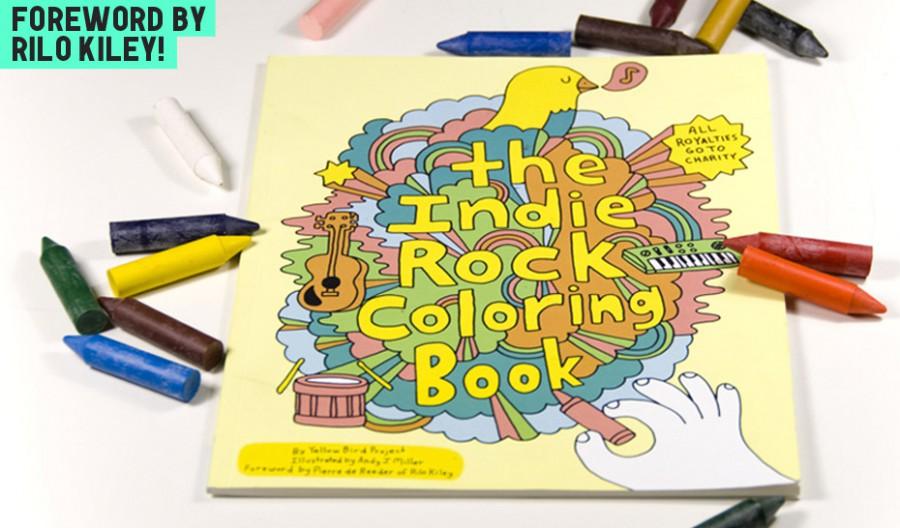 Indie Rock Coloring Book: раскраска для тех, кто любит инди и добрые дела