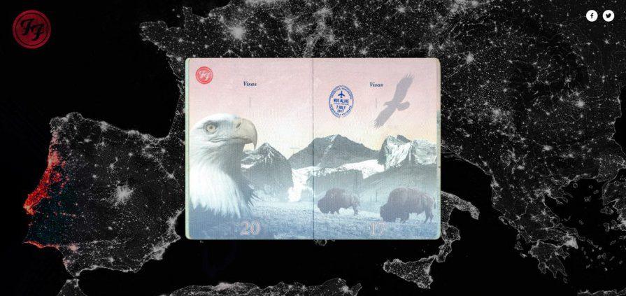 Тур Foo Fighters обзавелся собственным паспортом