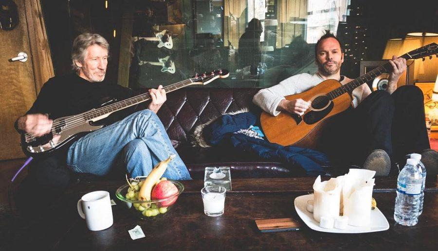 Роджер Уотерс записывается на студии