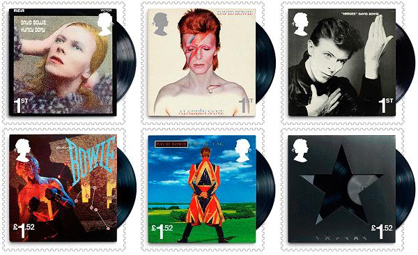 Британская почта выпустила марки, посвященные Дэвиду Боуи