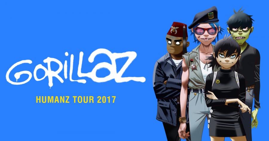 Европейский тур Gorillaz 2017