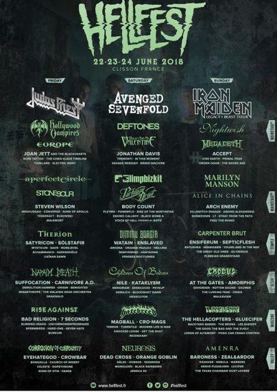 Фестиваль Hellfest Open Air 2018 (FRA)