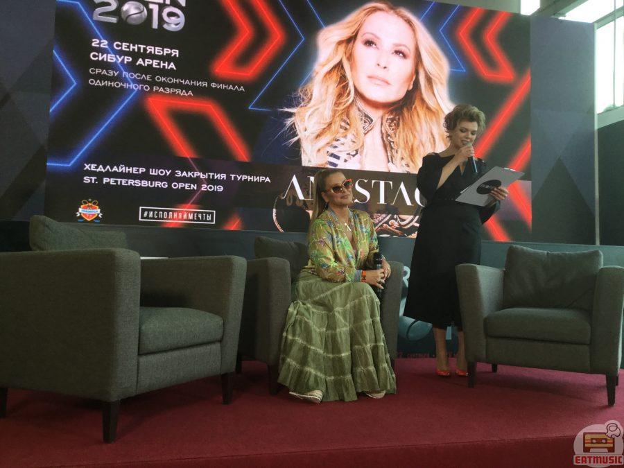 Пресс-конференция Анастейши на St. Petersburg Open 2019